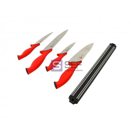Набор кухонных ножей Swiss Zurich SZ-13101 с магнитным держателем