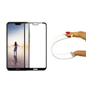 Защитное 5D cтекло Nano Flexible GLASS ITOP для Huawei P20 Lite Full Cover