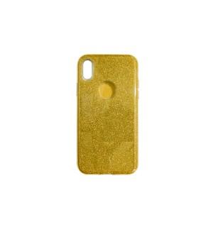 Чехол-накладка Gold с блестками для Apple IPhone X/Xs