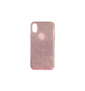 Чехол-накладка Pink с блестками для Apple IPhone X/Xs