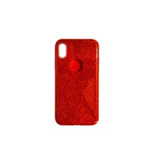 Чехол-накладка Red с блестками для Apple IPhone X/Xs