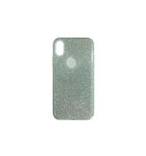 Чехол-накладка Silver с блестками для Apple IPhone X/Xs
