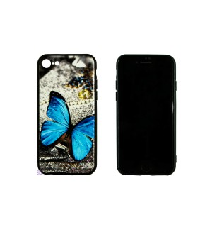 Чехол-накладка 3D Blue Butterfly Morpho для Apple IPhone 6/6S
