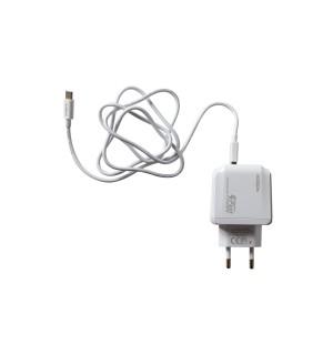 Сетевое зарядное устройство с кабелем Moxom KH 70Y