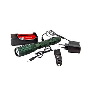 Фонарик светодиодный Rablex 2804 Т6 с двумя аккумуляторами
