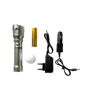 Ручной фонарь с белой насадкой Hangli 901 Серебристый