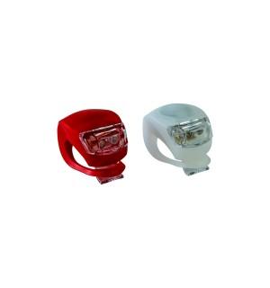 Велосипедные силиконовые фонари LED Light Set HJ008-2 (2 шт.)