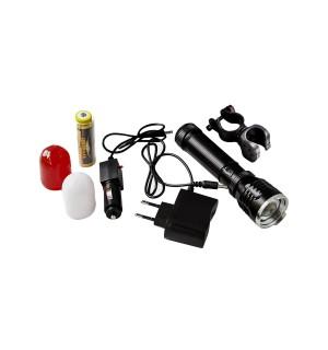 Велофонарик аккумуляторный Hangliang WD 294 с двумя аварийными насадками